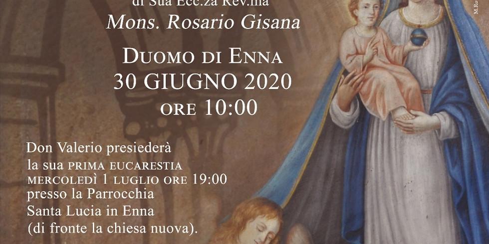 Prima presidenza dell'Eucarestia di don Valerio Sgroi