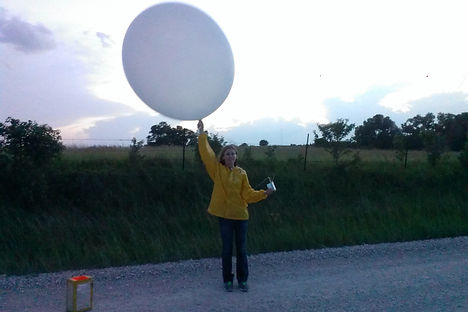 weather balloon launch, radiosonde, meteorologist