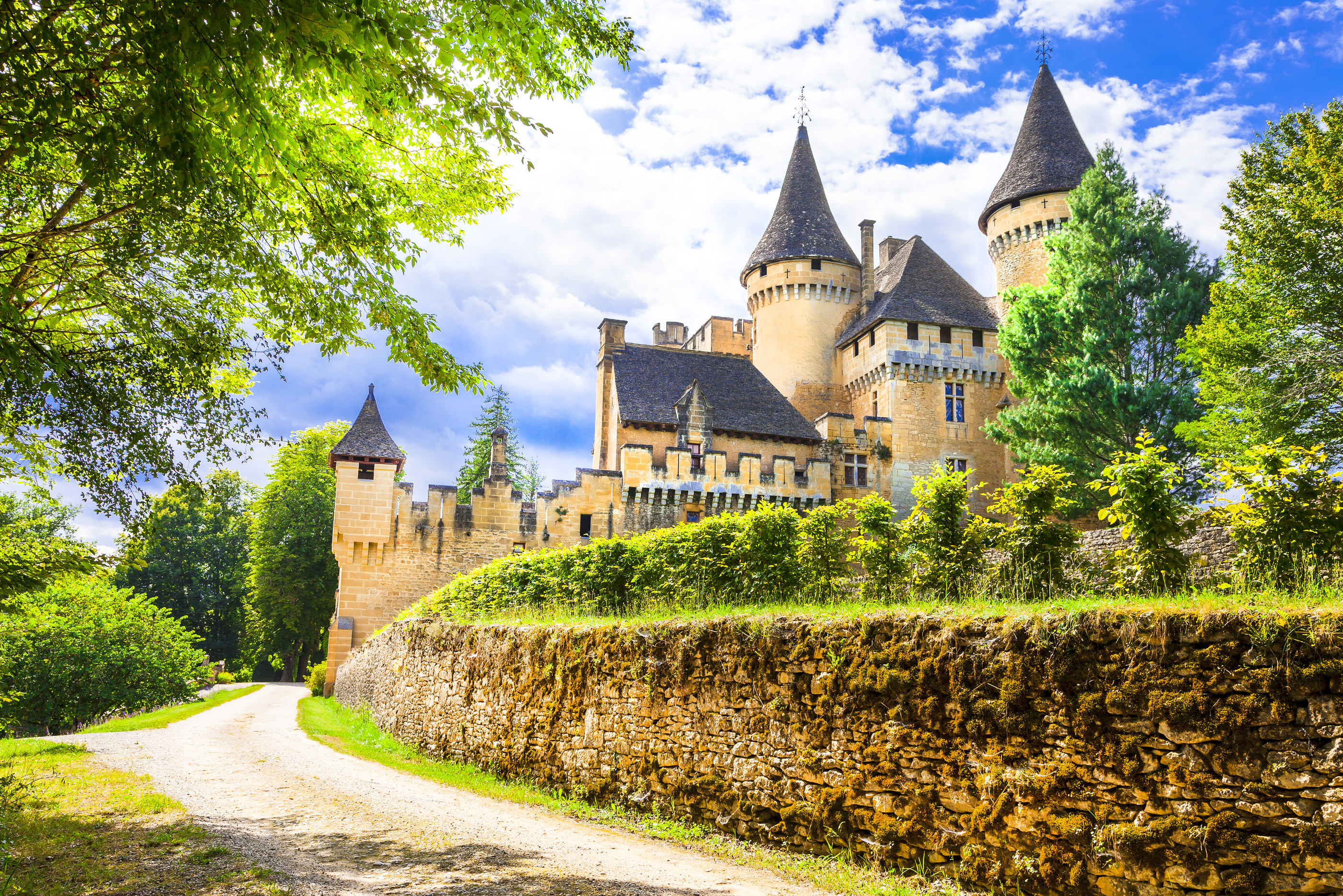 most beautiful castles of France - Puimartin,Dordogne