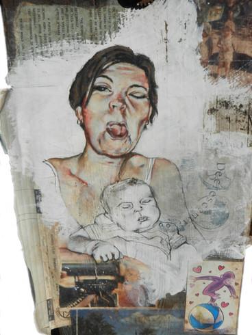 Family Evolution 1 (Detail)- Judith Ann Miller