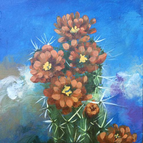 Cactus Bloom- Judith Dauncey