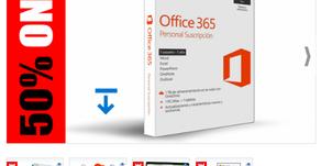 VOUCHER 50% ONE PARA MICROSOFT OFFICE 365 PERSONAL SUSCRIPCIÓN ANUAL (VALOR $ 68 USD) SPANISH / ENGL