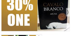 30% ONE PARA CAJA DE 6 BOTELLAS DE VINO CAVALO BRANCO CAJA DORADA (VALOR $55 USD) CIUDAD DE PANAMÁ