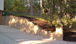 Brentwood retaining wall after
