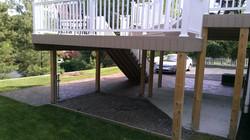 Concrete area under deck