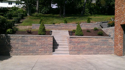 Wall, Concrete and Landscaping