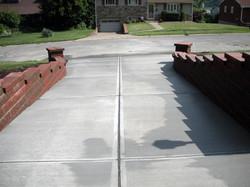 Concrete driveway after