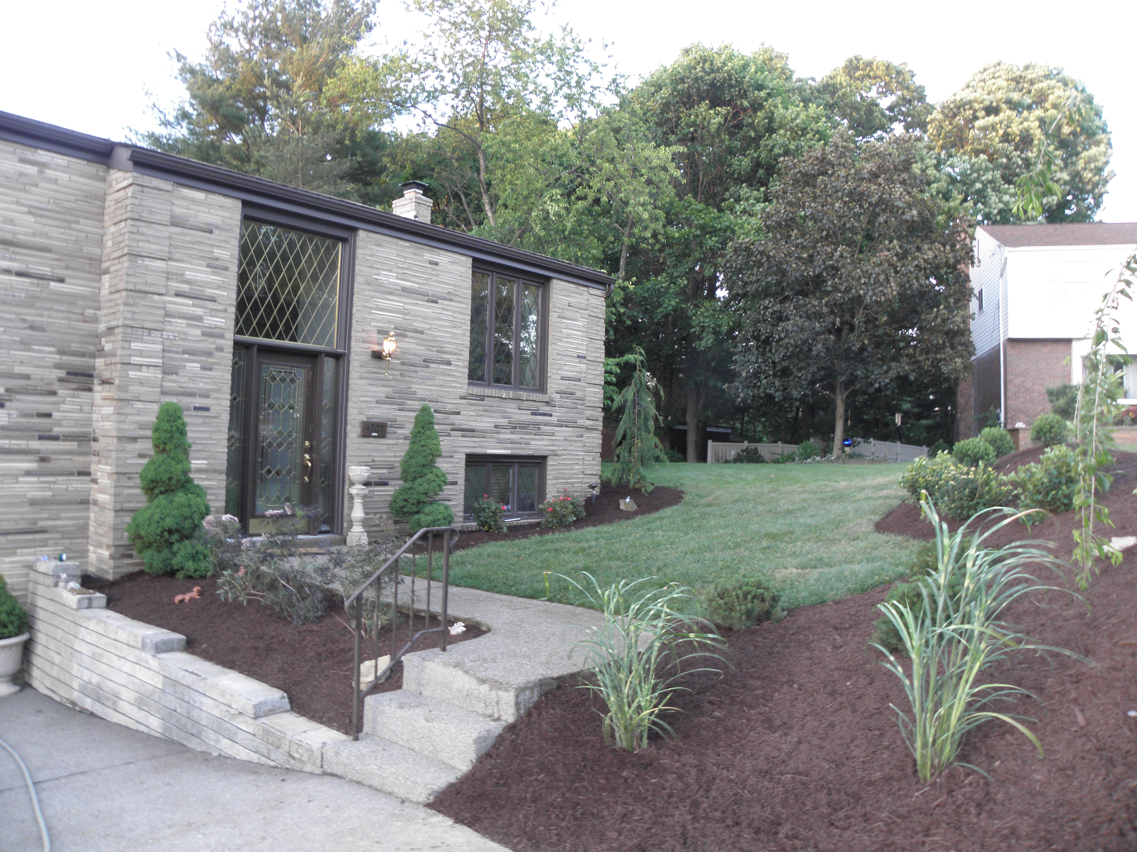 Whitehall landscaping after