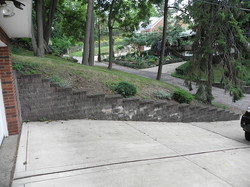 Brentwood retaining wall before