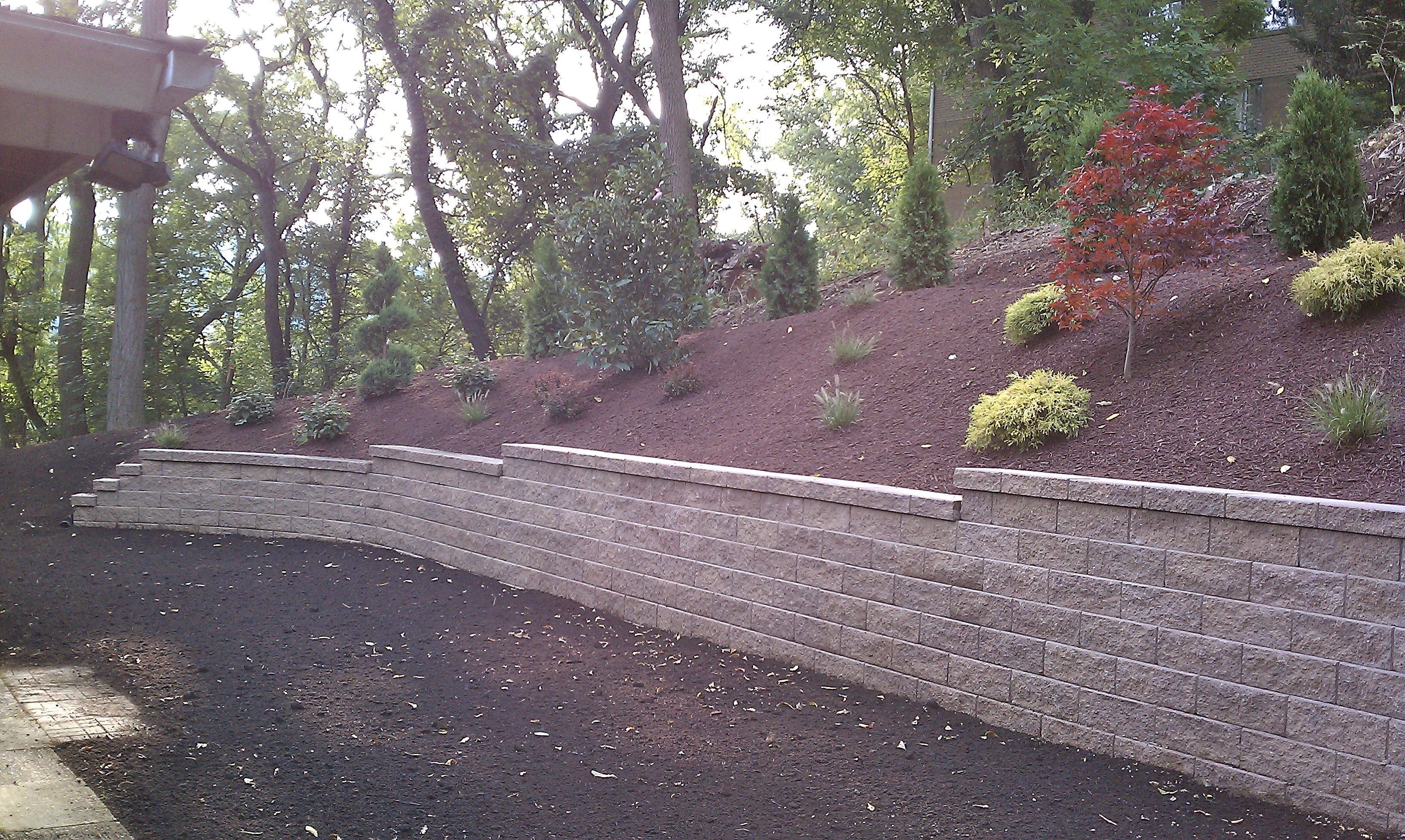 Brentwood after retaining wall