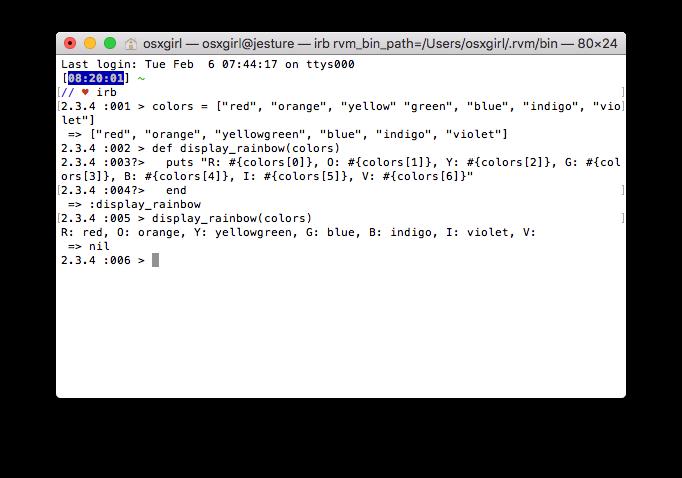 Ruby Programming Rainbow