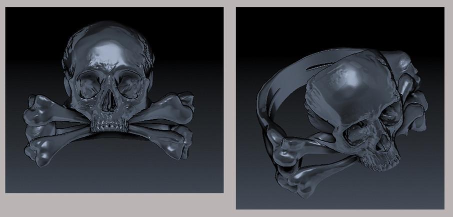 Skull & Crossbones Ring