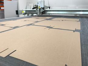 corte carton microcorrugado
