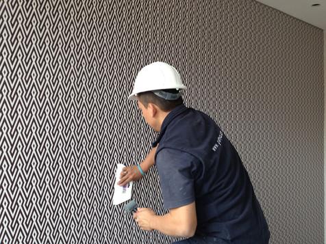 instalacion wallpaper hotel bogota