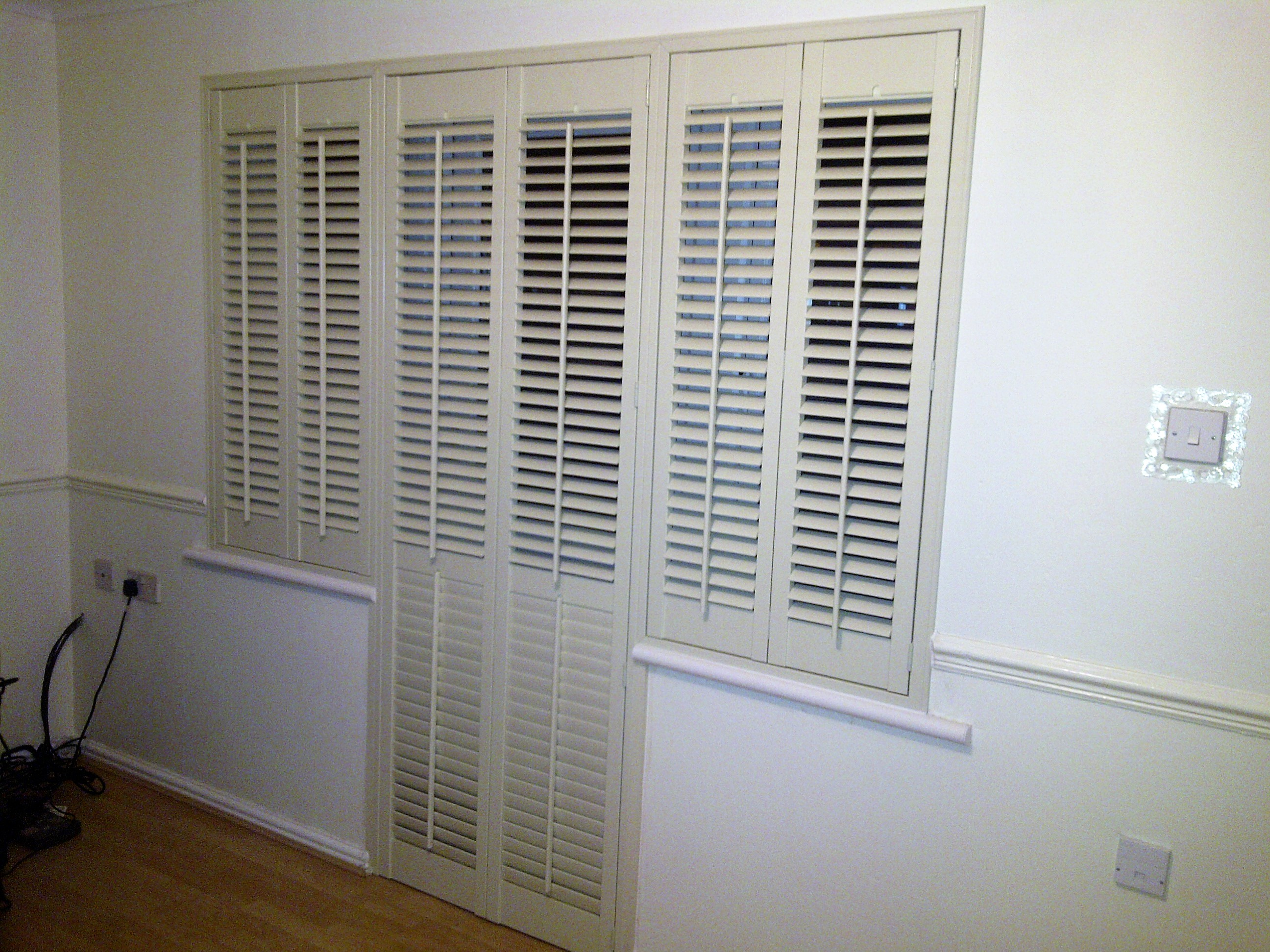 bedroom door shutter