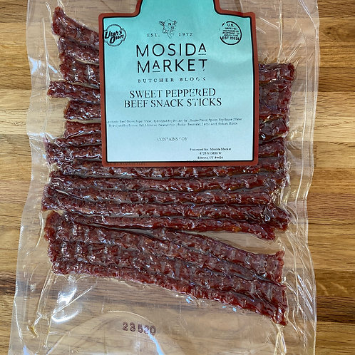 Sweet Peppered Beef Snack Sticks