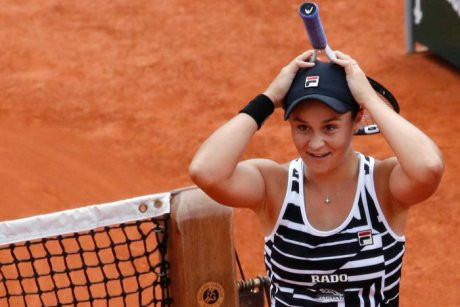 PHOTO Ashleigh Barty's graciousness on court contrasts with that of some of Australia's best-known men's players. AP: MICHEL EULER