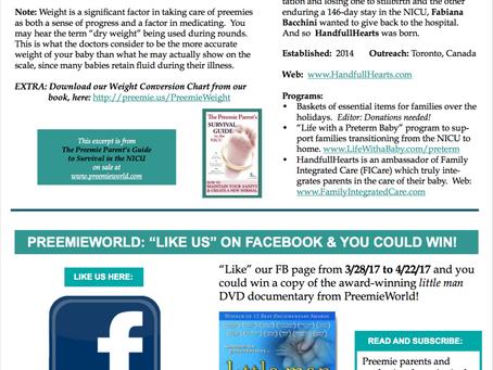 PreemieWorld Newsletter