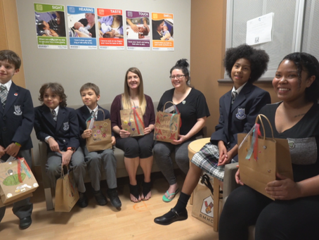 Grade 3 students deliver gifts to moms with babies in intensive care