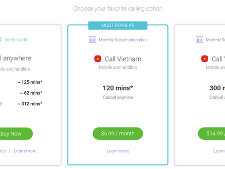 Best way to call internationally from and to Viet Nam