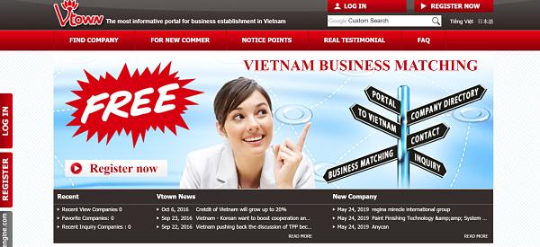 Top Viet Nam business directory vtown