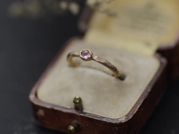 3mm ROSE CUT STONE RING
