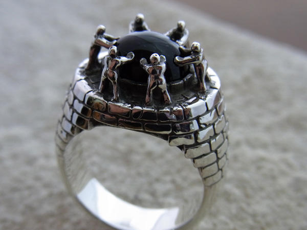 LOVE & PEACE STONE RING