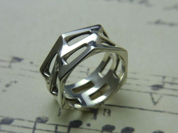HEXAGONS RING SMALL