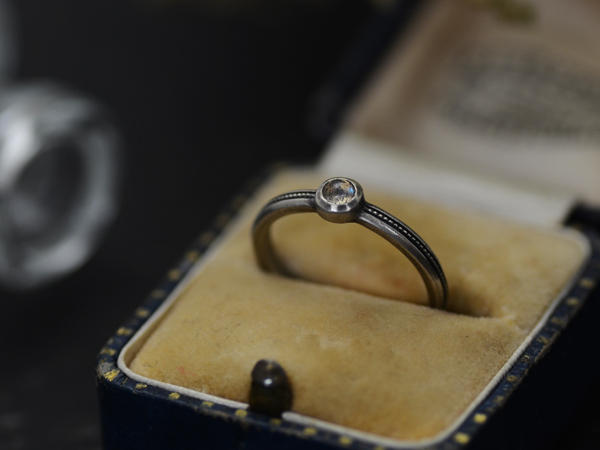 MILLGRAIN RING with STONE