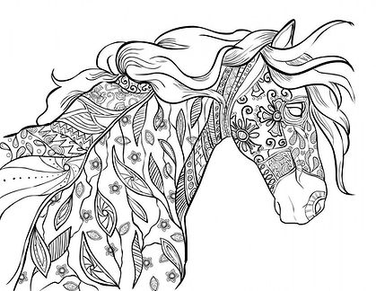 Horse-Coloring-Page-Printables-for-Adult