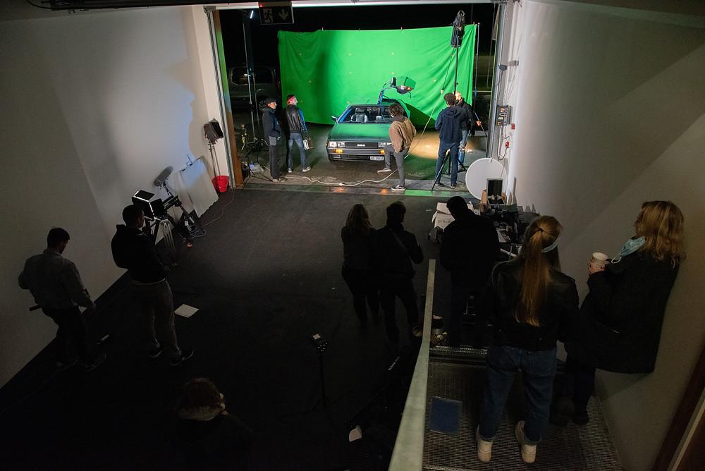 garage, studio du film RETROTAPE