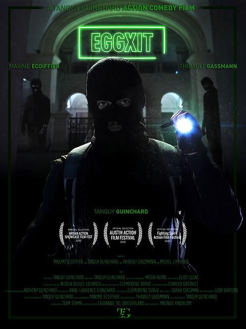 Eggxit action film poster