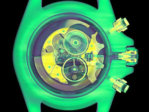 CT scan of a real Rolex watch