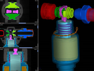 CT Scan of a Valve Assembly with Component Isolation