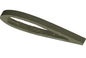 CT scan RC model helicopter blade