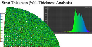 Strut thickness analysis on a 3D printed hip cup