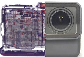 CT scan of fully assembled camera