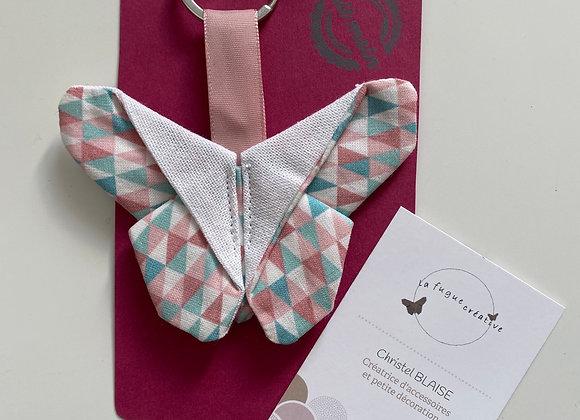 Porte clef origami papillon
