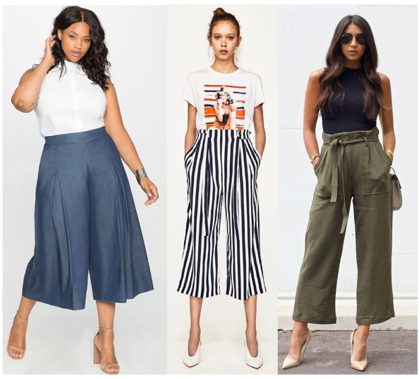 Exemples stylés de jupe-culotte