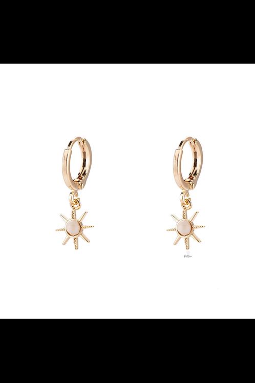 Earrings WHITE SUN