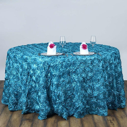 "Rosette Round 120"" Tablecloth"