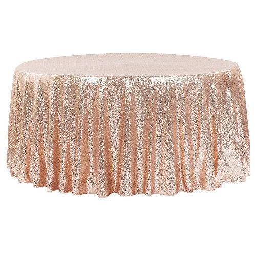 """Glitz- Sequin 120"""" Round Tablecloth"""