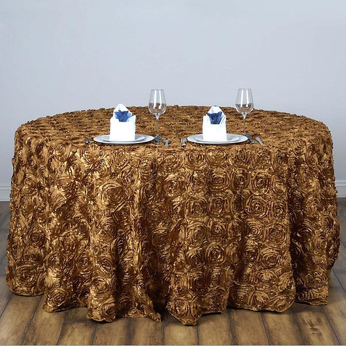 """Rosette Round Tablecloth 120"""""""