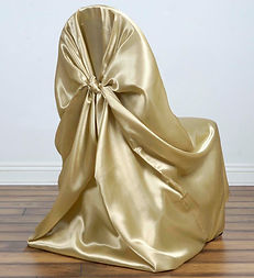 Chair Cover Universal Satin Champagne .j