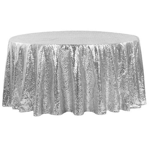 """Sequin-Glitz 108""""Round Tablecloth"""