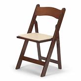 Wood Folding Fruitwood Chair