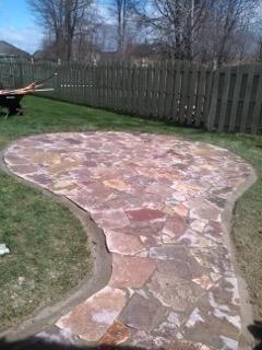 Flagstone Bedding & Sidewalk