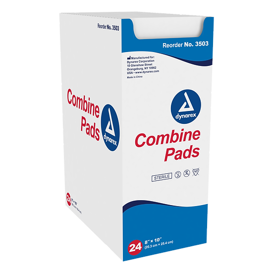 "ABD Combine Pads 1/pouch - Sterile, 8"" x 10"" 24 Pack"