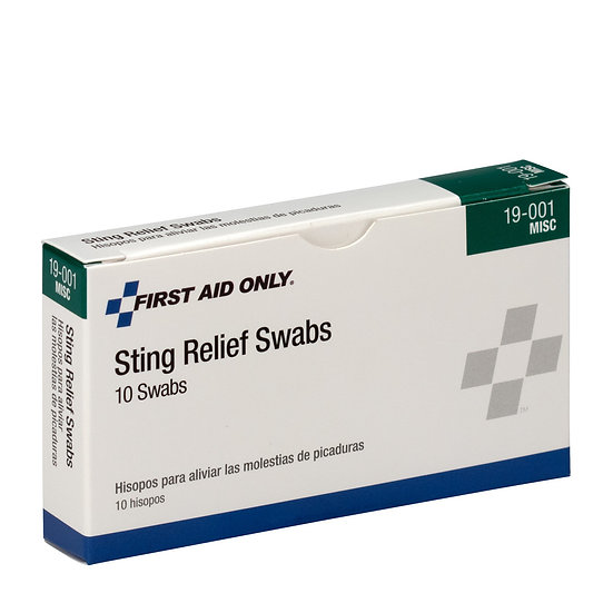 Sting Relief Swabs 6 ct