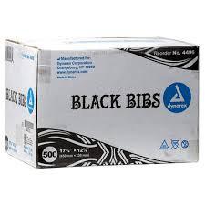 Dynarex Black Bibs
